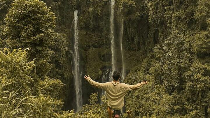 Sekumpul Waterfall Height
